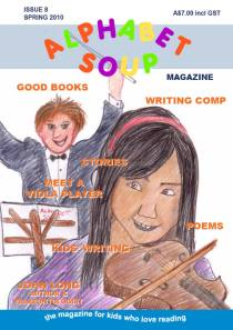 """Issue 8 cover Alphabet Soup magazine"""