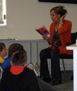 """""""Cheryl Kickett-Tucker, reading a chapter from 'Barlay!"""""""