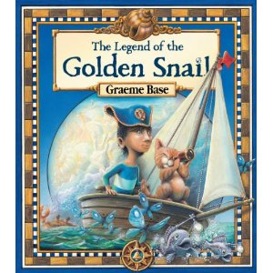 """The Legend of the Golden Snail by Graeme Base (book cover)"""