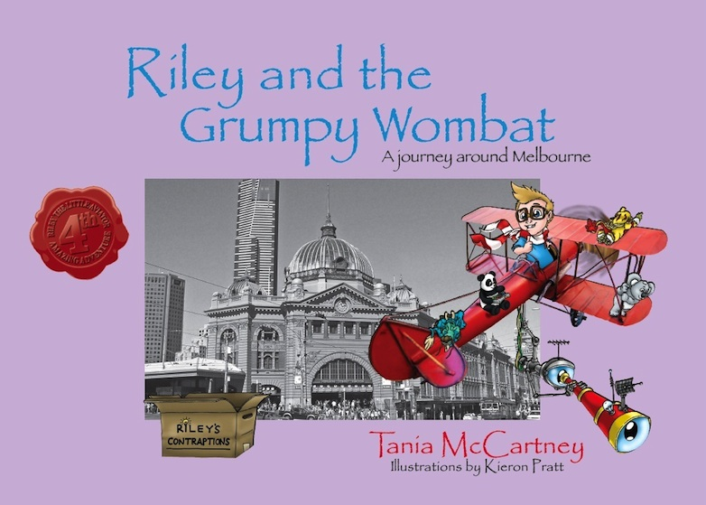 Riley and teh Grumpy Wombat (cover)