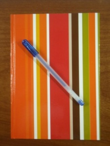 This STRIPED notebook is perfect for scribbling down story ideas
