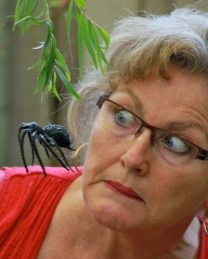photo of jen banyard and spider