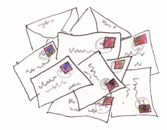 Pile of Letters (artwork copyright Greg Mitchell 2008)