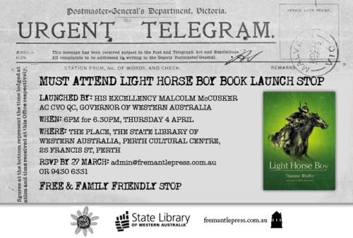 Light Horse Boy invite