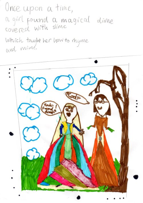 A poem and illustration by 7-year-old Jin Xiang © 2013