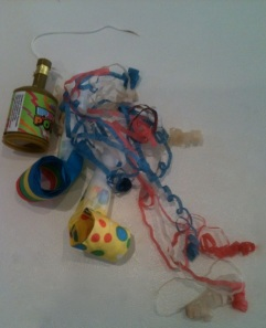festival streamers and party blowers