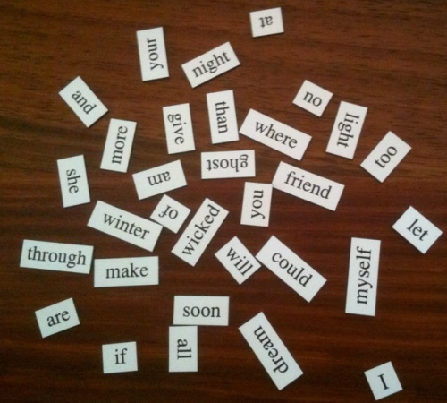 Words waiting for a poem