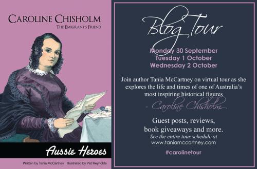 Caroline Chisholm Blog Tour flyer