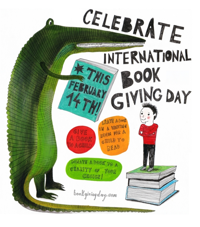 International Book Giving Day poster