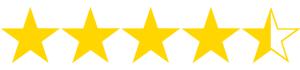 4 1/2 stars