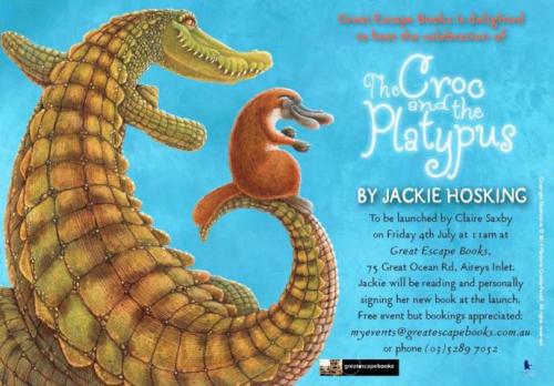 croc & platypus launch flyer