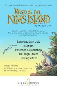 poster for book event wendy orr