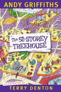 Lewis recommends THE 52-STOREY TREEHOUSE by Andy Griffiths, ill. by Terry Denton