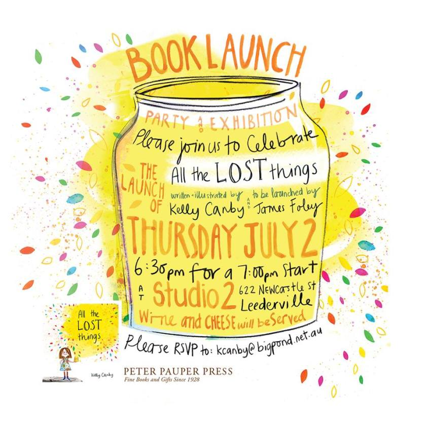 Kelly Canby book launch invitation