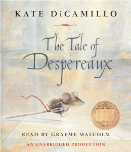 Matilda recommends the audiobook THE TALE OF DESPEREAUX by Kate di Camillo, read by Graeme Malcolm.