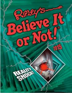 Céití recommends RIPLEY'S BELIEVE IT OR NOT 2015.