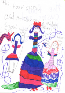 The Four Cousins and the Queen's Birthday Show, artwork by Isabelle