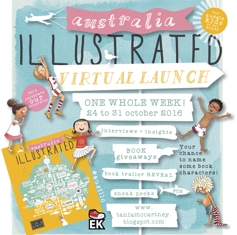 Australia Illustrated launch poster