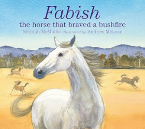 Fabish the horse that braved a bushfire.