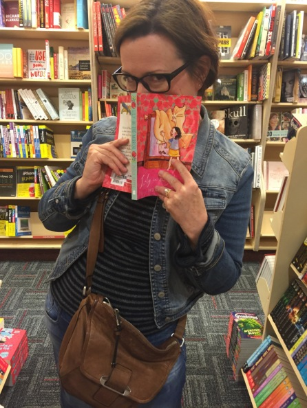 Paula Hayes discovers a copy of Lily in the Mirror in a bookshop.