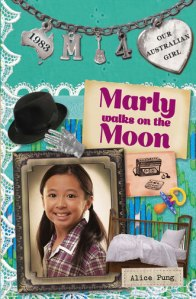 Marly walks on the moon.