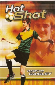 Hot Shot (book cover showing boy playing soccer)