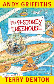 Xavier recommends THE 91-STOREY TREEHOUSE by Andy Griffiths and Terry Denton.
