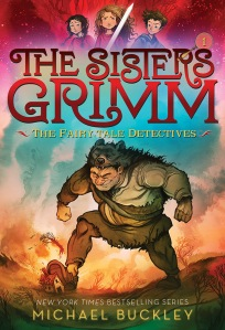 The Sisters Grimm (cover of book 1) by Michael Buckley, ill Peter Ferguson