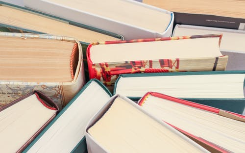 Image: pile of books. Image from pexels.com.