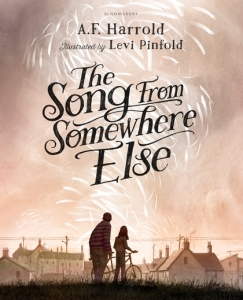 Rory recommends THE SONG FROM SOMEWHERE ELSE by AF Harrold and illustrated by Levi Pinfold