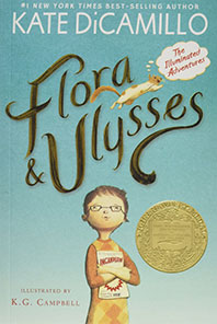 Matilda recommends FLORA AND ULYSSES by Kate DiCamillo, illustrated by KG Campbell