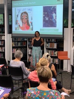 Nadia L King at the launch of The Lost Smile