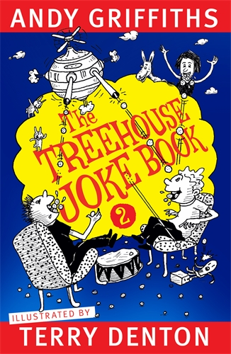 Book cover: The Treehouse Joke Book 2 by Andy Griffiths and Terry Denton